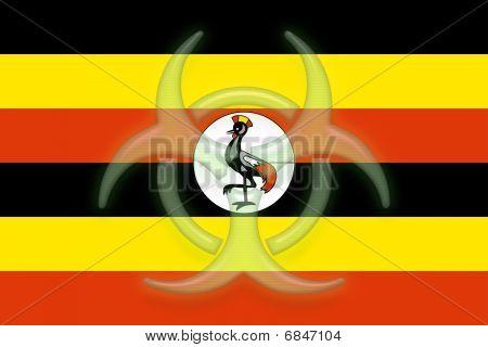 Flag Of Uganda Health Warning