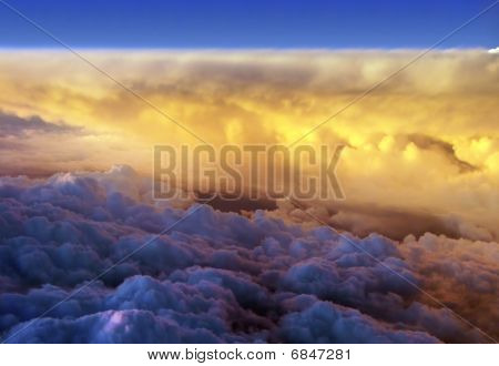 Airial view of clouds