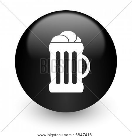 beer black glossy internet icon
