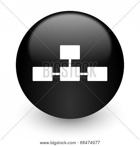 database black glossy internet icon
