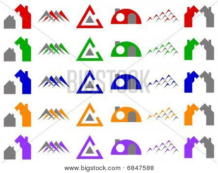 Houses And Construction Vector Icon Design Elements