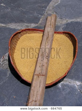 Basket With Millet
