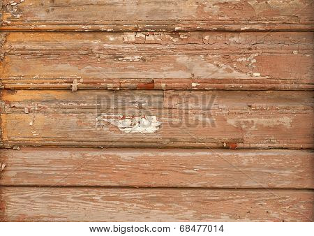 Texture Of Old Wooden Wall With Paint