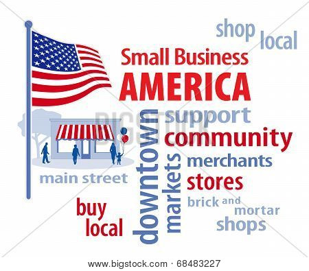 Small Business America, American Flag