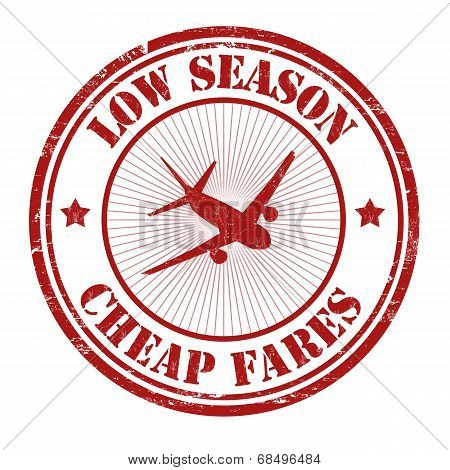 Low Season, Cheap Fares Stamp