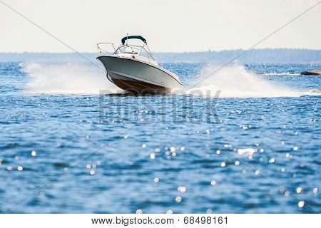 Small Speedboat In Archipelago