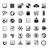 picture of observed  - set of 36 big data management icons - JPG