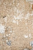 stock photo of old stone fence  - Old stone beige wall rural background texture - JPG