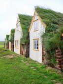 picture of iceland farm  - Historic Icelandic turf houses in Glaumbaer  - JPG