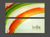 foto of indian independence day  - Website header or banner design for 15th of August - JPG