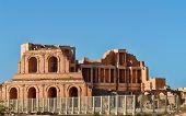 stock photo of libya  - Roman theater the ancient city of Sabratha Libya - JPG