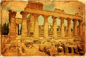 picture of libya  - The Temple of Zeus at Cyrene archeology Libya - JPG