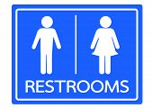 image of toilet  - Pictogram Man Woman Sign icons - JPG