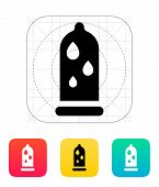 stock photo of condom  - Condom and Water lubrication icon - JPG