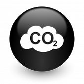 pic of carbon-dioxide  - carbon dioxide black glossy internet icon - JPG
