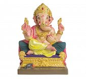 image of indian elephant  - A statue of an Indian god - JPG