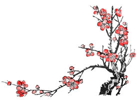 picture of chinese calligraphy  - Chinese painting of flowers - JPG