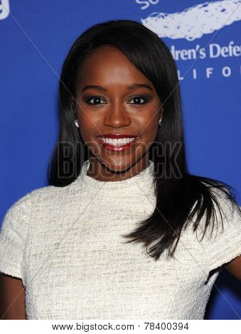 LOS ANGELES - DEC 04:  Aja Naomi King arrives to the 2014 Beat The Odds on December 04, 2014 in Culver City, CA