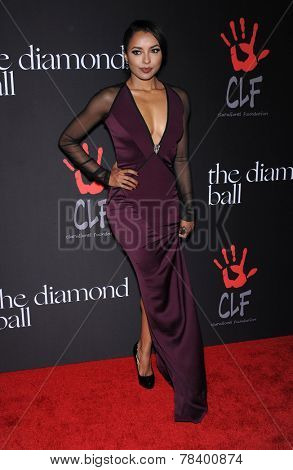 LOS ANGELES - DEC 11:  Kat Graham arrives to the The First Annual Diamond Ball on December 11, 2014 in Beverly Hills, CA