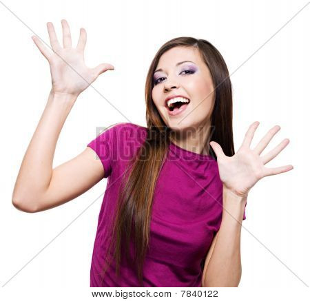 Woman With Positive Facial Expression