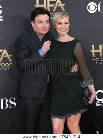 LOS ANGELES - NOV 14:  Mike Myers arrives to the The Hollywood Film Awards 2014 on November 14, 2014 in Hollywood, CA