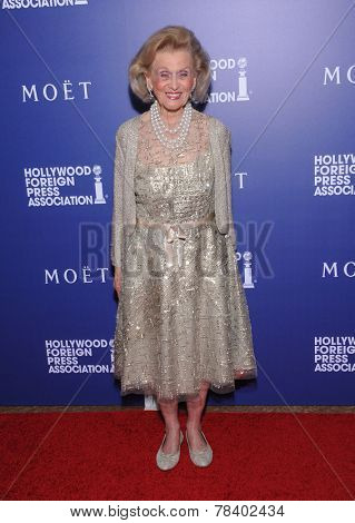 LOS ANGELES - AUG 14:  Barbara Davis arrives to the HFPA Annual Installation Dinner 2014 on August 14, 2014 in Beverly Hills, CA