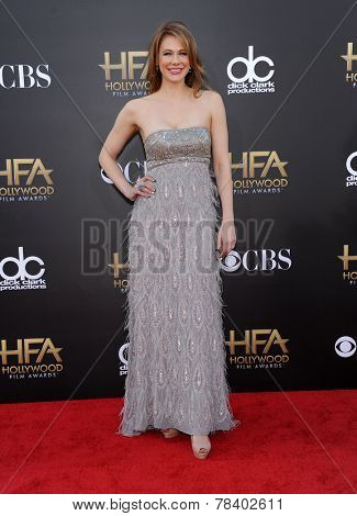 LOS ANGELES - NOV 14:  Maitland Ward arrives to the The Hollywood Film Awards 2014 on November 14, 2014 in Hollywood, CA