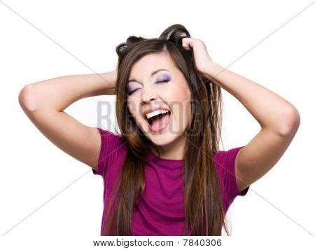 Young  Screaming Woman