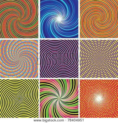 Twirl Colorful Backgrounds