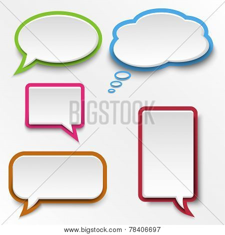 Colorful Abstract Speak Bubbles Template
