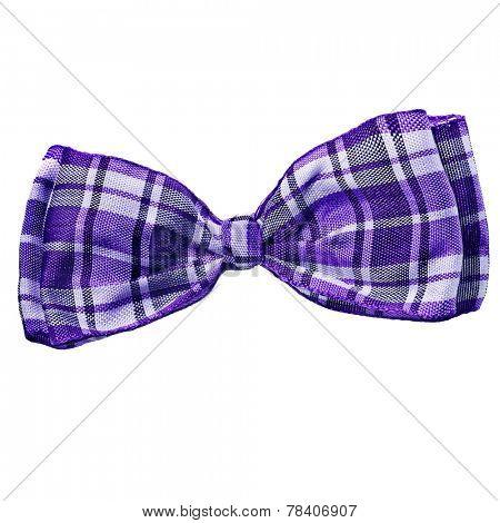 scottish  bow tie isolated on white background