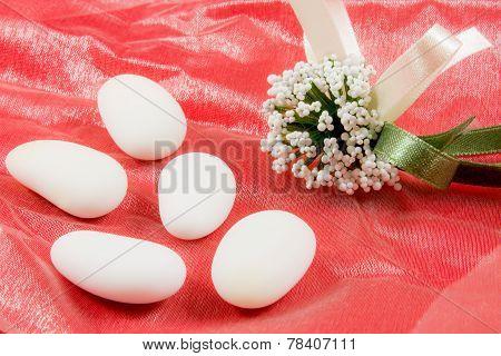 White Sugared Almonds
