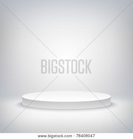 stage podium award ceremony vector illustration 3d show pedestal best