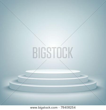 stage podium award ceremony vector illustration 3d show pedestal best