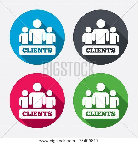 Clients sign icon. Group of people symbol.