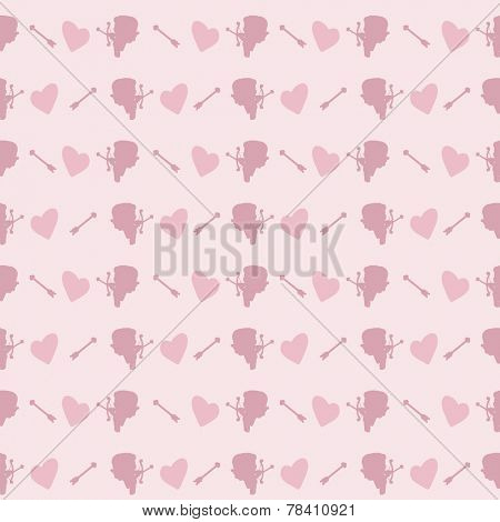 cupid seamless pattern