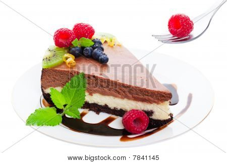 Triple Layer Chocolate Cheesecake