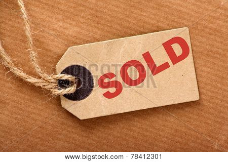 SOLD paper Tag