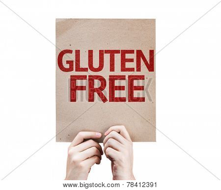 Gluten Free card isolated on white background