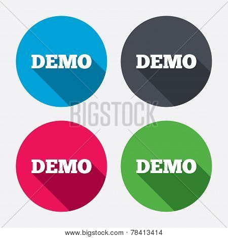 Demo sign icon. Demonstration symbol.