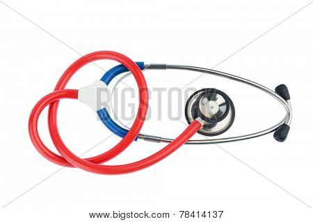 stethoscope on white background, photo icon for the medical profession and cardiovascular disease