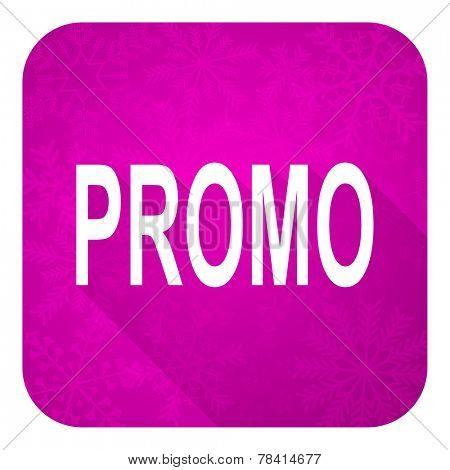 promo violet flat icon, christmas button