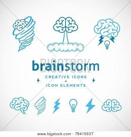 Brainstorm Abstract Creative Logo Template