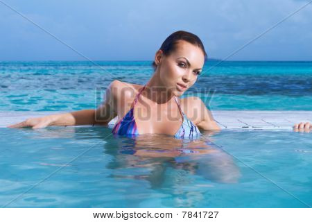 Woman At Maldives
