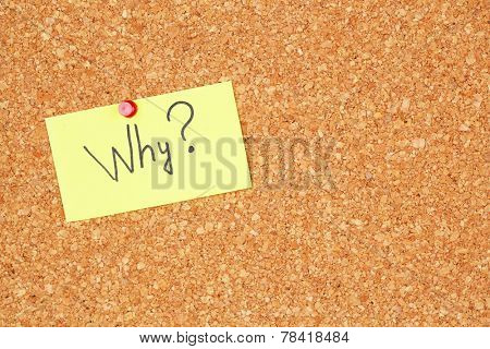 Paper sheet with question