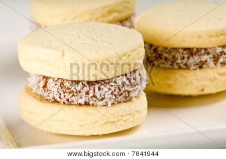 Cornflour Cookies Closeup