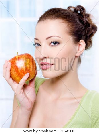 Beautiful Sensulity Woman With Apple
