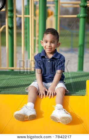 Multi-racial Boy At The Park