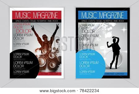 Layout magazine cover, vector