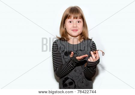 Teen Girl With Golden Watches